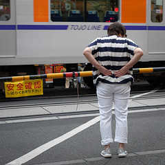 Waiting (Senkawa Scott) Tags: oyama asian backache old woman streetphotography tokyo tired japan elderly