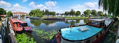 Summer panorama in Ely, Cambs. (35mmMan) Tags: panorama huaweip20pro summer ely cambridgeshire riverside riverscape inland waterways boats