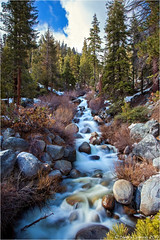 Meltwater Creek (Sandra Lipproß) Tags: sequoianationalpark california highsierra sierranevada spring springtime snowmelt creek cascades softwater nature outdoor outside landscape mountains waterfall slowwater travel forest trees usa meltwater