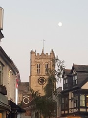 Moon over Christchurch Priory (DorsetBelle) Tags: christchurchpriory christchurch moon dorset