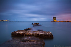 Dead End (Paulo Carvalho Photography) Tags: clouds nature sea seascape water paulocarvalho portugal lisbon vts rocks rochas sky nightfall céu ocean nuvens natureza tejo rio stones coast