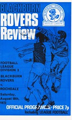 Blackburn Rovers vs Rochdale - 1972 - Cover Page (The Sky Strikers) Tags: blackburn rovers rochdale football league division three ewood park review official programme 7p