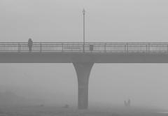 Sea haze at the Pier (johnstewartnz) Tags: 80200mm 80200 ef80200 canon canonapsc apsc eos 7dmarkii 7d2 7d canon7dmarkii canoneos7dmkii canoneos7dmarkii 100canon monochrome blackandwhite bw niksilvereffectspro pier newbrighton newbrightonbeach newbrightonpier