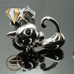 Boucles d'oreilles chat en argent 925 (olivier_victoria) Tags: argent 925 boucles oreille boucle doreille chat