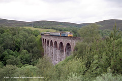 c.1987 - Slochd Viaduct, Scotland. (53A Models) Tags: britishrail brush type4 class47 47648 diesel passenger slochdviaduct highlands scotland train railway locomotive railroad
