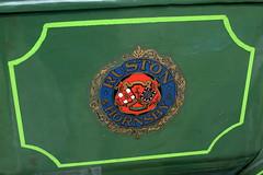 Ruston stationary engine, detail (Davydutchy) Tags: jubbega fryslân friesland frisia frise nederland netherlands niederlande paysbas holland pannekoekboerderij koppenjan stationairmotor stationaire motoren dag stationary engine stationärmotor motor moteur ruston hornsby british english logo decal sign merk brand