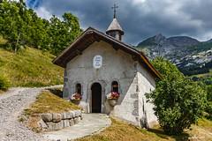 Notre Dame des Neiges ( Hte. Savoie 07/2019) (gerardcarron) Tags: canon80d laclusaz massifdesaravis church ciel cloud hautesavoie landscape valléedesconfins