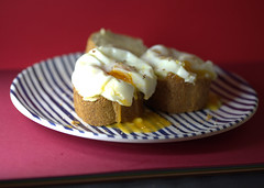 Runny Poached Eggs (Tony Worrall) Tags: images photos photograff things uk england food foodie grub eat eaten taste tasty cook cooked iatethis foodporn foodpictures picturesoffood dish dishes menu plate plated made ingrediants nice flavour foodophile x yummy make tasted meal nutritional freshtaste foodstuff cuisine nourishment nutriments provisions ration refreshment store sustenance fare foodstuffs meals snacks bites chow cookery diet eatable fodder ilobsterit instagram forsale sell buy cost stock runny poached eggs yolk