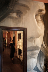 Lounge Room (realstephenwhite) Tags: mural portrait abandoned interior decay derelict realstephenwhite art face rone stephenwhite empire painting streetart