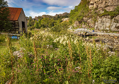 """Idyllic scenery"" (Terje Helberg Photography) Tags: boathouse bridge cloud flowers grass idyllic landscape mountain nature outdoor outside park parklife path reiling rocks scenery sky stones stream trees view"