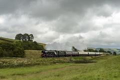 Travelling Lunch (4486Merlin) Tags: england europe unitedkingdom transport steam railways northyorkshire settle flyingscotsman 60103 exlner lnerclassa3 giggleswick northernbelle spiritoftravellunch