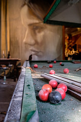 Games Room (realstephenwhite) Tags: mural portrait abandoned interior decay derelict realstephenwhite art face rone stephenwhite empire painting streetart