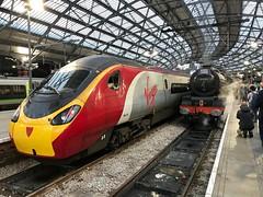 New for Old (Flikrman Gaz) Tags: virgin train railway steam pendolino steamloco red lms liverpoollimestreet