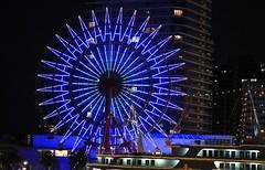 Kobe Ferris Wheel at Night (6) (F) (Richard Collier - Wildlife and Travel Photography) Tags: japan kobe ferriswheel nightimage
