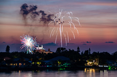 Fireworks over the Don Ce-Sar (subrec) Tags: july4th 4thofjuly fourthofjuly julyfourth independenceday 2019 stpetebeach florida isladelsol doncesar sunset sun colorfulskies colorfulsky clouds colorful fireworks water longexposure sky skyporn pentaxk50 pentax pentaxart