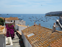 Cadaques (Kaeko) Tags: trip travel vacation holiday town spain catalonia resort cadaques europe ocean boat view