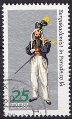 Deutsche Briefmarken (micky the pixel) Tags: deutschland ephemera stamp ddr deutschepost bergmann briefmarke costume mining tracht bergbau bergakademist
