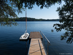 Morning at the lake (andyscamera) Tags: canada haliburtoncounty lakekennisis ontario andyscamera boats cottage dock sailboat
