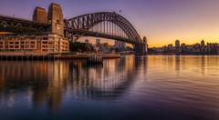 Morning colours (www.cornelia-schulz-photography.com) Tags: sydney harbourbridge sunrise beautiful sea water reflections australia colourful architecture bridge