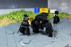 Ark and support Ask 01 (Devid VII) Tags: ark reaper black drone military diorama scene lego moc details devid vii district minifig minifigs minifigures drones minifigure devidvii