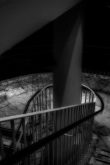 Nite at the Museum (Peter Polder) Tags: sydney australia architecture abstract art bw building evening interior monochrome mono urban