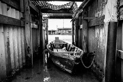Ravenna Malinconica e abbandonata6 (Ondablv) Tags: portfolio lagunare fishing shed bn riflessi lago lake black white bianco nero marina romea huts shack ravenna mare sea laguna baracca rete pesca fish pescare riflettere riflessioni ondablv night vento malinconia water weather