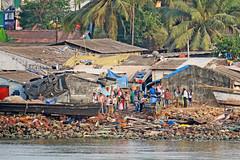Waterfront Living - Goa, India (TravelsWithDan) Tags: people outdoors city urban candid water goa india shoreline palmtrees garbage litter makeshifthousing beachfrontliving canong3x arabiansea