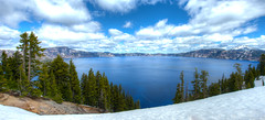 Crater Lake (Daniel J. Mueller) Tags: craterlake nationalpark crater lake trees water snow clouds hdr