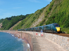 802022 & 802002 Teignmouth (Marky7890) Tags: gwr 802022 class802 iet 1a79 teignmouth railway devon rivieraline train