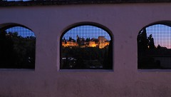 Granada, 2019 (periStatic) Tags: granada andalucia night alhambra noche sky blue window dream reality spain traveling post walls historical summer monumentos