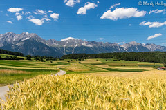 """Views of Austria (mandyhedley) Tags: austria mountains villages wheat fields clouds natterersee natters church forest """"flickrtravelaward"""""""
