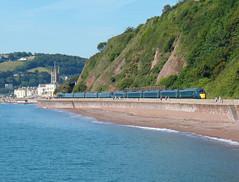 802009 & 802001 Teignmouth (2) (Marky7890) Tags: gwr 802009 802001 class802 iet 1c04 teignmouth railway devon rivieraline train