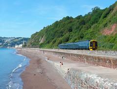 158958 Teignmouth (Marky7890) Tags: gwr 158958 class158 expresssprinter 2t10 teignmouth railway devon rivieraline train