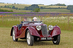 1938 Riley Sprite (Roger Wasley) Tags: aba525 1938 riley sprite cotswold lavender classic car vehicle prewar prescott