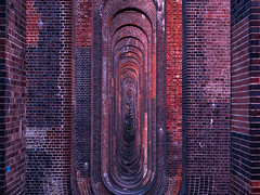 And On And On And On (Trigger1980) Tags: olympus digital camera trains brighton main line dark day long lights lens nite night grade ii listed building ouse river valley viaduct em5markii m1250mm f3563