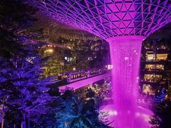 World tallest indoor waterfall,  Jewel @ Changi Airport (-Faisal Aljunied - !!) Tags: faisalaljunied changiairport jewel skytrain waterfall indoor singapore breathtaking stunning wow awesome sensational