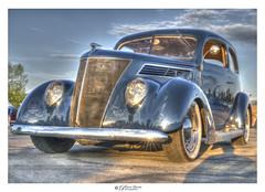 Antique 1930's Chevy Coupe (Pearce Levrais Photography) Tags: chevrolet coupe 1935 1930s car auto automobile classic sony a7r3 hdr outside outdoor sky cloud portrait