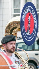 Tuba for the National Guard (scattered1) Tags: july4th instrument mi marquette upperpeninsula nationalguard parade michigan band uniform summer marinecorpsleague march northernmichigan man northern independenceday tuba marchingband 2019 lakesuperior detachment764