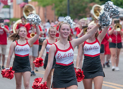 Redettes Chearleaders (scattered1) Tags: july4th pompom mi marquette upperpeninsula parade chearleader michigan uniform summer youngwoman northernmichigan northern independenceday 2019 redettes marquettehighschool