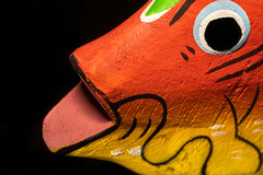 Gone Fishing (melmark44) Tags: 5dmarkiv 5d4 boldcolors 100mm primelens macrolens canon dslr highresolution fullframe lifesize 11 indonesia bali balsawood macromondays gonefishing fish macro closeup woodennapkinring hmm happymacromonday painted art colorful longexposure canoneos5dmarkiv ef100mmf28macrousm tabletop desktop led videolight tripod