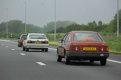 Wouters 1983 Ford Sierra 1.3 Custom + Jacobs 1987 Citroën BX 191 GTI + Nico's 2001 Renault Clio 1.2 (Dirk A.) Tags: nicos 2001 renault clio 12 43hdtp onk sidecode6 lsxf80 sidecode5 jacobs 1987 citroën bx 191 gti jj72kj sidecode4 wouters 1983 ford sierra 13 custom