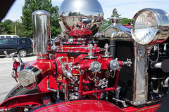 Gizmos. Lots of gizmos. (desert11sailor) Tags: coolcars concours newburyport cars oldcars ahrensfoxfiretruck fireengine