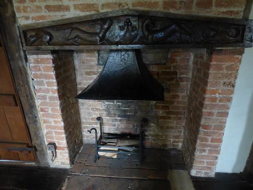 Paycocke's House - Cloth Room - fireplace