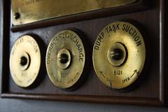 dump tank suction (202/365) (werewegian) Tags: ships engineering panel display brass cleats bar gourock werewegian jul19 365the2019edition 3652019 day202365 21jul19