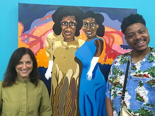 Bottomless Mimosa Happy Hour with Mindy Solomon ( 8397 NE 2nd Ave. Little River) and artist Azikiwe Mohammed