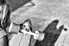 Ready to ride (kceuppens) Tags: longboard board black white bw blackandwhite zwart wit zw nikon d810 shadow schaduw nikond810 nikkor247028vr nikkor 2470 vr arbor