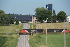 CN2999RoadLomiraWI7-13-19 (railohio) Tags: cn trains lomira wisconsin 071319 d750 farm es44ac canadiannational