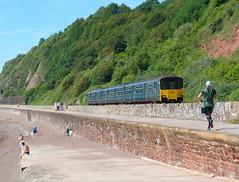150002 Teignmouth (Marky7890) Tags: gwr 150002 class150 sprinter 2f21 teignmouth railway devon rivieraline train