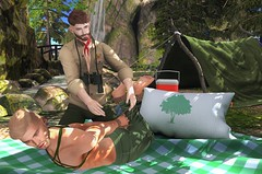 Learning The Ropes (EnviouSLAY) Tags: forestscene forest scene bondage shibari woods blanket tent cooler red green scout gacha rare outfit thirst tylie decor brunette stealthic magnificent hairbase beard lelutka andrea blogcollab blog collab belleza bento jake tmd themensdepartment the mens department theepiphany epiphany mensmonthly mensfair mensfashion monthlyfashion monthlyfair monthlyevent gachaevent gachafashion gachafair gachadecor event fair fashion monthly pale male gay blogger secondlife second life photography