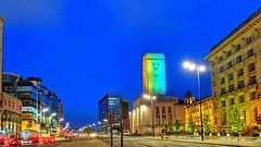 Liverpool at Blue Hour (pallab seth) Tags: liverpool architecture waterfront merseyside portcity heritage unescoworldheritagesite landscape cityscape evening england city summer tourism touristdestination mobilephotography merseyferries bluehour night